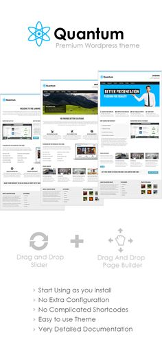Quantum Premium Wordpress Theme - Mojo Themes  #wordpress #theme #website #template #responsive #design #webdesign #flat #flatdesign