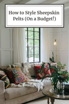 Are you looking to create a layered bohemian inspired look that's as cozy as it is chic? Figure out how to do so with these budget friendly sheepskin pelts! Sheepskin Throw, Interior Decorating, Interior Design, Throw Rugs, Budgeting, Area Rugs, Bohemian, Cozy, Inspired