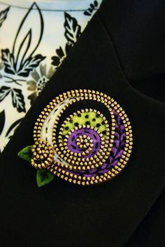 Multi colored abstract felt and zipper brooch by woollyfabulous, $32.00