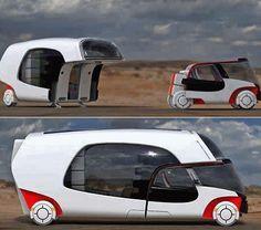 Fantastico concept di auto + roulotte (foto)