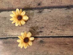 Sunshine on My Shoulders Yellow Sunflower Earrings