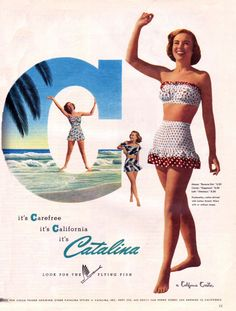 Cute as a button one and two piece swimsuits from 1948.