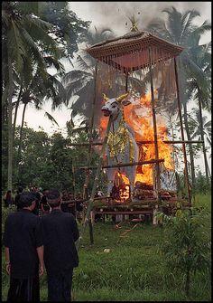 BALINESE CREMATION PYRE  Ubud, Bali