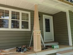 Craftsman Style Front Porch Columns Craftsman Style Column Instructions How To Build Craftsman Style Front Porch Columns Craftsman Front Porches, Craftsman Style Porch, Craftsman Columns, Front Porch Columns, Porch Pillars, Craftsman Decor, Craftsman Exterior Colors, Craftsman Houses, Craftsman Trim