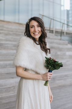 Who says you can't get married outside in the middle of winter in New England? This couple loved having a January winter wedding! Don't you love the bride's stole? It does perfectly with her sparkly, flowy dress. They wore comfy boots to walk and changed into heels for the best photo-ops. If you're looking for a Boston City Hall elopement photographer, you gotta check out Lena Mirisola! She knows all the best spots for city photos like the beautiful Seaport Harborwalk! City Hall Wedding, Wedding Day, Got Married, Getting Married, Boston City Hall, Winter Weddings, Wedding Moments, Beautiful Couple, Bridal Accessories