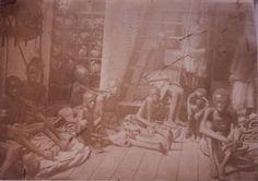 Slaves aboard slave ships - 1800s