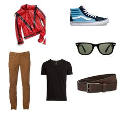 """""""Nightcrawler"""" by t-lofa on Polyvore featuring H&M, Vans, Urban Pipeline, Ray-Ban, HUGO, men's fashion and menswear"""
