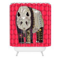 Sharon Turner Chocolate Panda Shower Curtain | DENY Designs Home Accessories