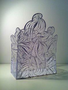 Rachael Ashe - Smoke, 2013 Paper cut sculpture