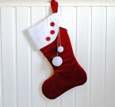 Christmas Mantels, Red Christmas, Handmade Christmas, Velvet Christmas Stockings, Fabric Advent Calendar, Kids Stockings, Red Velvet, Holiday Decor, Christmas Decor