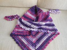 Hey, I found this really awesome Etsy listing at https://www.etsy.com/uk/listing/253358093/crochet-triangle-scarf-pretty-purples