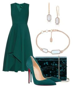 Classic Night out look - Alexander McQueen, Christian Louboutin, Jimmy Choo, Roberto Coin and clothing Party Fashion, Look Fashion, Trendy Fashion, Womens Fashion, Mode Outfits, Dress Outfits, Fashion Dresses, Fashion Shoes, Classy Outfits