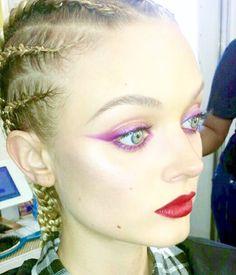 Bella Heathcote on The Neon Demon. Cornrows by genius Sha Page. Makeup, me. #theneondemon #bellaheathcote #moviemakeup #makeuptrailer #moviemagic #ilovemyjob #cornrows #nicolaswindingrefn