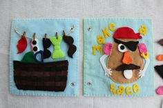 Make a Face 2 page spread quiet book page. These pages make a great addition to your custom hand made quiet book- cultivating your childs
