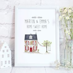 Home Sweet Home Personalised New Home Print