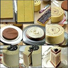 Rolled up cake