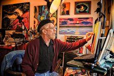 Pioneer Artist #1, Dennis Tawes, in his Studio/Gallery!