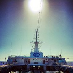 Sunshine during a day at sea for the Azamara Quest.