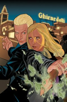 I may have just died and gone to heaven.  First Buffy moved to my hometown, San Francisco, and now here she and Spike are fighting in front of Ghirardelli Square!!!