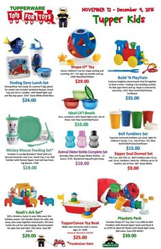 November 12, 2016 - December 9, 2016 Debra Todd Jordan, Tupperware Consultant http://debratoddjordan.my.tupperware.com/ or message me your order direct or call me 843-222-6544 When ordering through me direct you can pay with cc or debit, cash, Paypal. Just message me your email address for a Paypal invoice.