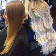 Icy Blonde Balayage | Transformation by @saramay_24 with Olaplex to keep the hair healthy. ❄️ #Olaplex #balayage #hairgoals