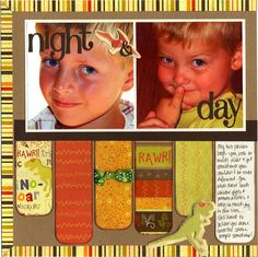 Night & Day 2 scrapbook layout