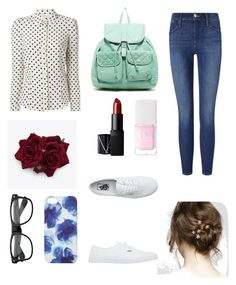 """Untitled #1"" by alexpowkoconut ❤ liked on Polyvore featuring RED Valentino, Frame Denim, Vans, T-shirt & Jeans, NARS Cosmetics, Christian Dior and Jigsaw"