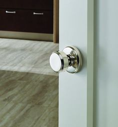 Pretty door knob - Schlage Greyson Style Non-locking Bowery Knob (in Bright Chrome)