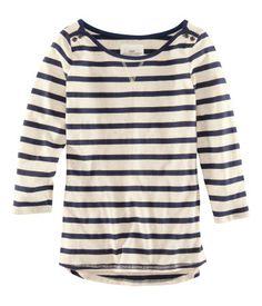 Jersey top with a boat neck from H $17.95  #fallwardrobe
