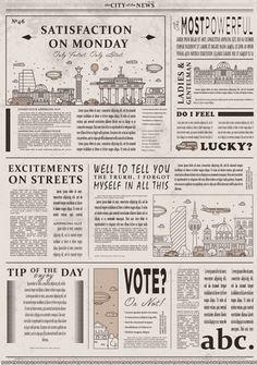 Diseño de plantilla de periódico vintage... | Premium Vector #Freepik #vector #vintage Papel Vintage, Vintage Maps, Vintage Newspaper, Newspaper Design, Cover Photo Quotes, Web Design, Wallpaper Iphone Cute, Kawaii Wallpaper, Journal Stickers