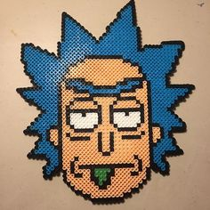 Rick - Rick and Morty perler beads by  magicspeecrab