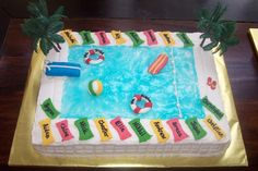 cake ideas for pool party | Special Occasion Cakes: A Day at the Swimming Pool Cake