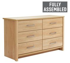 Buy Collection Truro 6 Drawer Chest - Oak Effect at Argos.co.uk - Your Online Shop for Chest of drawers, Bedroom furniture, Home and garden.