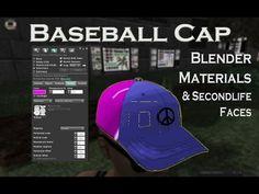 570eec62de65f 3D Baseball Cap - Blender Materials - Second Life Faces