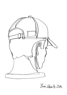 """profil perdu 27"", one-continuous-line-drawing by Boris Schmitz, 2014"