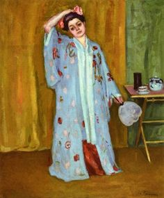 Charles Camoin:  The Artist's Sister in a Kimono
