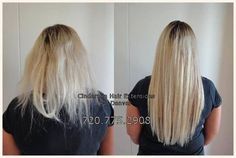 Elisha had broken damaged hair from bleaching and fusion extensions.  Micro Link extensions were the answer!