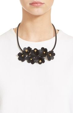 Marni Floral Calfskin Leather Necklace available at #Nordstrom