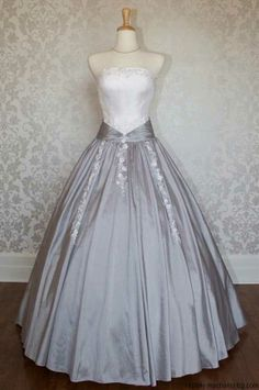 Strapless two tones ball gown