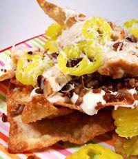 @Jill Dyer Hasselbring Menschen - doesn't this remind you of trocadero (sp?) nachos?  YUMMMMM Italian Nachos johnny carinos copy cat