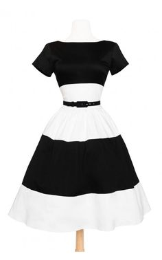 Pinup Couture - Amanda Dress in White and Black | Pinup Girl Clothing