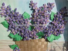 WhiteRacoon's handcrafts blog: Lilacs, quilled - from all over the world!