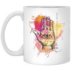 Open Your Eyes and See Love Mug - My Happy Vibes