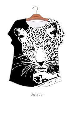 Camiseta Carimbo Digital Onça #UseNatureza #JeffersonKulig