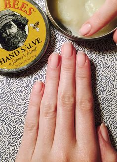 Hand model hand care! Rich lotions or salves make for great overnight hand masks!