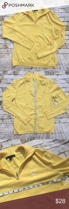 NEW brooks brothers yellow half zip cardigan New without tags Brooks Brothers Sweaters Cardigans