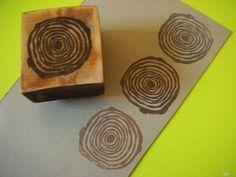 Tree ring on wood mount