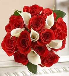 """My favourite: Red Roses and White Lillies Bouquet called """"Blood and Bandages"""""""