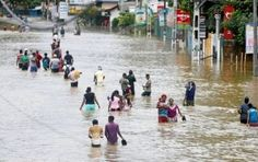 In Sri Lanka as a result of floods and landslides 122 persons have died already