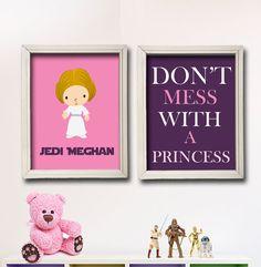 Star Wars Nursery Art Girl Room Decor  2 by StarWarsPrintShop, $20.00
